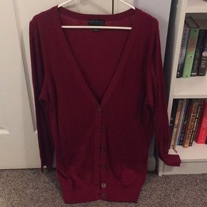 Like new forever 21+ red cardigan